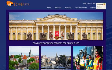 Screenshot of Home Page deneesti.ee - DenEesti | Complete shoreside services for cruise ships - captured Feb. 9, 2016