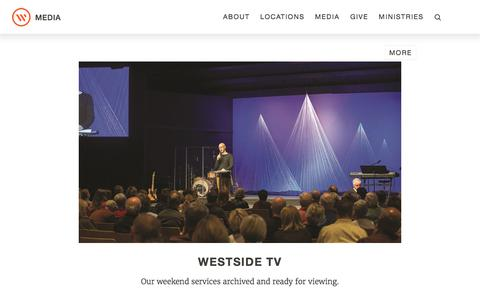 Screenshot of Press Page westsidechurch.org - Westside Church - Life. Love. Jesus. - captured July 2, 2017