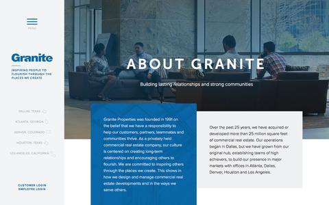 Screenshot of About Page graniteprop.com - About Granite | Granite Properties | Dallas, TX - captured Aug. 29, 2017