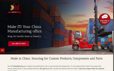 Screenshot of Products Page itimanufacturing.com - Made in China: Product Sourcing | Custom ITI Manufacturing - captured June 7, 2017