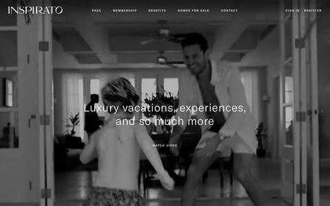 Screenshot of Home Page inspirato.com - Luxury Vacation Rentals | Destination Club | Inspirato - captured Dec. 6, 2019