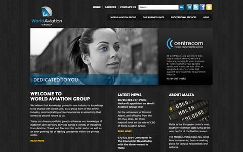 Screenshot of Home Page worldaviationgroup.eu - World Aviation Group | Homepage - captured Oct. 7, 2014
