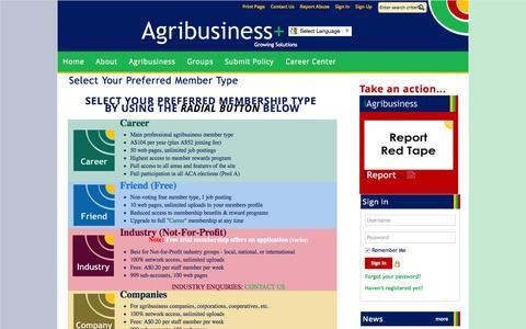 Screenshot of Signup Page site-ym.com - Agribusiness Council of Australia Ltd - captured Sept. 25, 2015