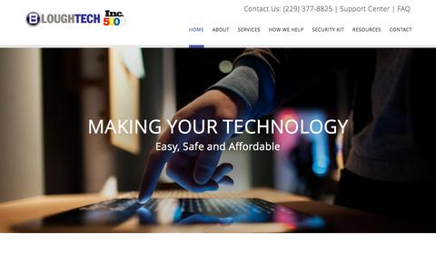 Screenshot of Home Page bloughtech.com - Home - Blough Tech, Inc. - captured Nov. 3, 2015