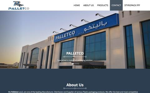 Screenshot of Home Page palletco.ae - Palletco LLC - captured Jan. 24, 2016