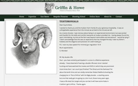 Screenshot of Testimonials Page griffinhowe.com - Testimonials   Griffin and Howe - captured Feb. 2, 2016