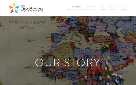Screenshot of Home Page donbosco.org - The Don Bosco Centers - captured Oct. 9, 2018