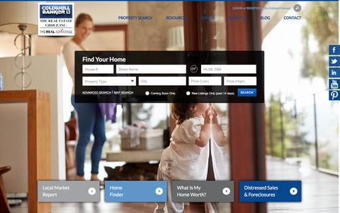 Screenshot of Home Page coldwellhomes.com - Coldwell Banker | The Real Estate Group, Inc. - captured Jan. 23, 2016