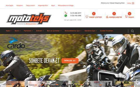 Screenshot of Home Page mototeks.com.tr - Mototeks Motosiklet Ekipmanları Ana Sayfa - captured June 28, 2017