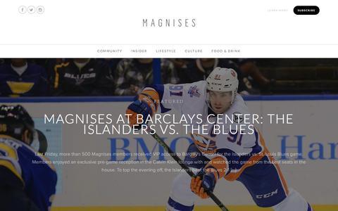 Screenshot of Blog magnises.com - Magnises Blog - The latest in community, culture, & lifestyle. - captured Dec. 9, 2015