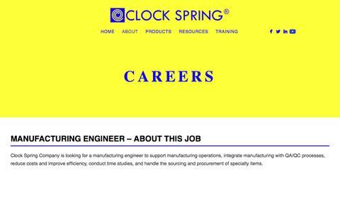 Screenshot of Jobs Page clockspring.com - Careers - captured Jan. 29, 2016