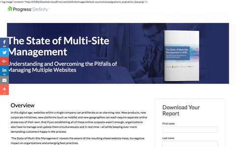 Screenshot of Landing Page sitefinity.com - The State of Multi-Site Management | Telerik Sitefinity - captured Aug. 19, 2016