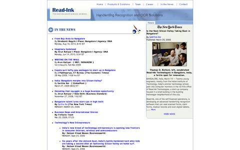 Screenshot of Press Page read-ink.com - Online and Offline Handwriting Recognition Engine - Read-ink News - captured Feb. 25, 2016