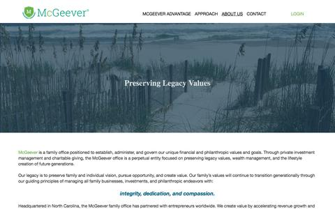 Screenshot of About Page mcgeeverllc.com - About Us • McGeever LLC - captured Sept. 20, 2018