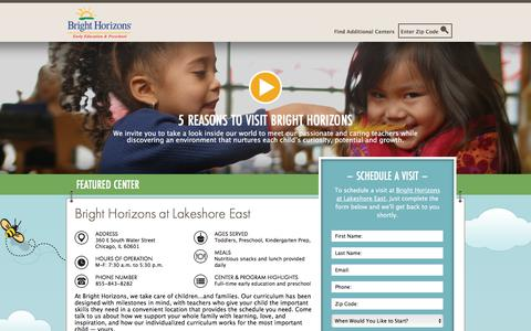 Screenshot of Landing Page brighthorizons.com - Bright Horizons® | Child Care, Back-Up Care, Early Education, and Work/Life Solutions - captured Jan. 31, 2018
