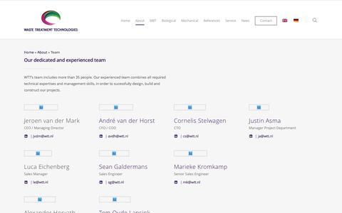 Screenshot of Team Page wtt.nl - Team - WTT - captured Dec. 3, 2016