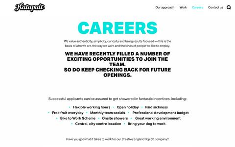 Screenshot of Jobs Page katapult.co.uk - Careers - Katapult - captured May 11, 2018