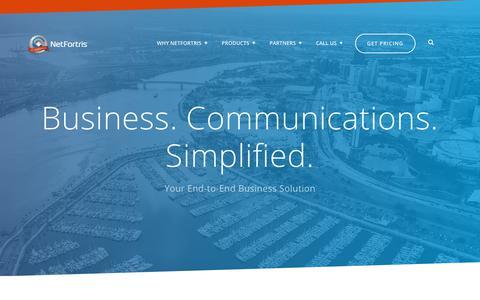Screenshot of Home Page netfortris.com - NetFortris Telecommunications for Business - captured Aug. 17, 2019