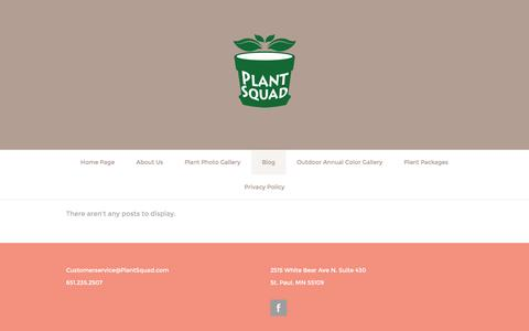Screenshot of Blog plantsquad.com - Blog - captured Dec. 10, 2015