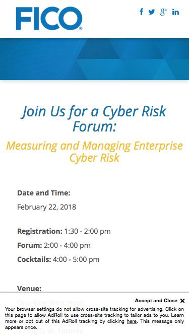 Join Us for a Cyber Risk Forum: