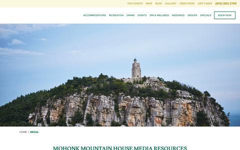 Screenshot of Press Page mohonk.com - Media & Press | PR & Press Kits | Mohonk Mountain House - captured Oct. 29, 2017