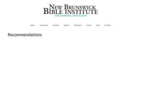 Screenshot of Testimonials Page nbbi.ca - Recommendations – New Brunswick Bible Institute - captured Dec. 21, 2018