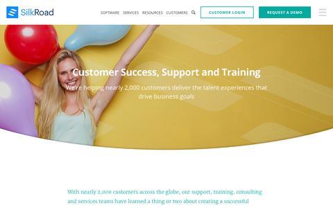 Screenshot of Services Page silkroad.com - Talent Management Software & Services | SilkRoad - captured July 7, 2017