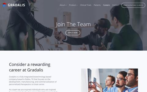 Screenshot of Jobs Page gradalisinc.com - Gradalis - Careers - captured Oct. 19, 2018