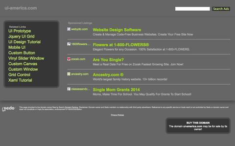 Screenshot of Home Page ui-america.com captured Oct. 4, 2014