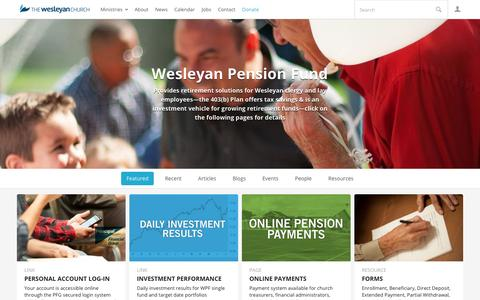 Wesleyan Pension Fund | The Wesleyan Church