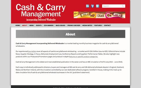 Screenshot of About Page cashandcarrymanagement.co.uk - About - Cash & Carry Management - captured Oct. 26, 2016