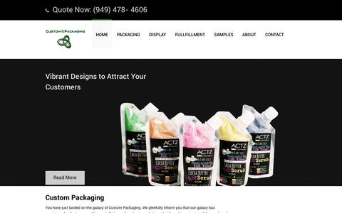 Screenshot of Home Page custom-packaging.com - Custom Packaging | Custom Packaging Solutions | Custom Packaging Products Los Angeles & Orange County - captured Dec. 13, 2015