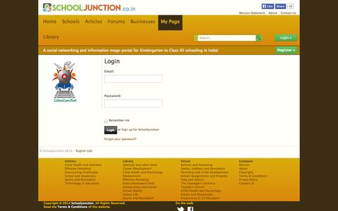 Screenshot of Login Page schooljunction.co.in - Login » SchoolJunction - captured Nov. 2, 2014