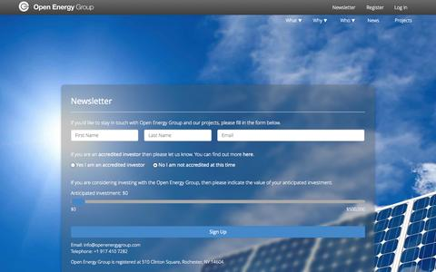 Screenshot of Signup Page openenergygroup.com - Sign Up - Open Energy Group - captured Nov. 5, 2014