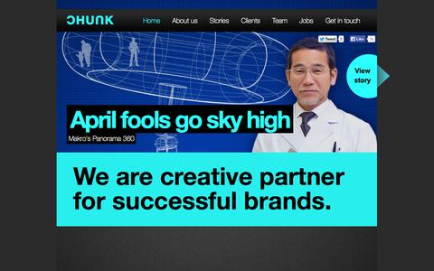 Screenshot of Home Page chunk.nl - CHUNK Creative partner for successful brands - captured Sept. 26, 2014