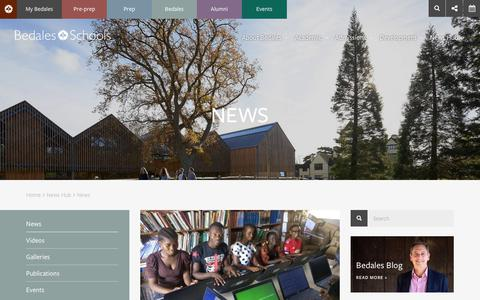 Screenshot of Press Page bedales.org.uk - News | Bedales School | Independent Day and Boarding School - captured Oct. 5, 2018