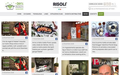 Screenshot of Press Page risoli.com - News - Risolì - captured Dec. 10, 2016