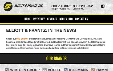 Screenshot of Press Page elliottfrantz.com - In the News   Elliott & Frantz, Inc. - captured Sept. 28, 2018