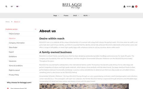 Screenshot of About Page bulaggi.com - About us - Bulaggi - captured Nov. 13, 2018
