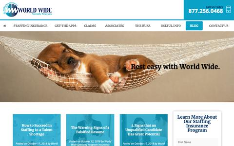 Screenshot of Blog wwspi.com - Blog - World Wide Specialty Programs Inc. - captured Oct. 20, 2018