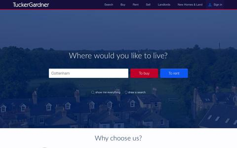 Screenshot of Home Page tuckergardner.com - TuckerGardner - Ely and Cambridge Estate Agents - captured Aug. 4, 2015