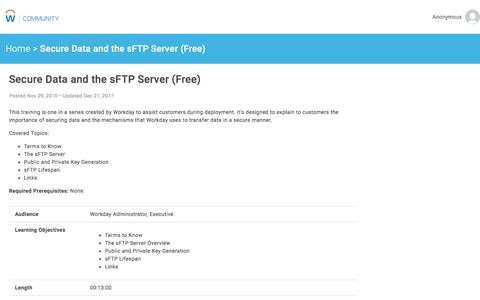 Secure Data and the sFTP Server (Free)   Workday Community