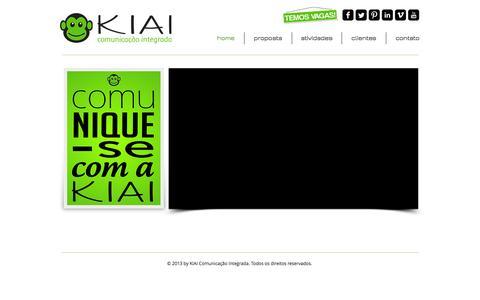 Screenshot of Home Page kiai.net.br - KIAI Comunicação Integrada - captured Sept. 30, 2014