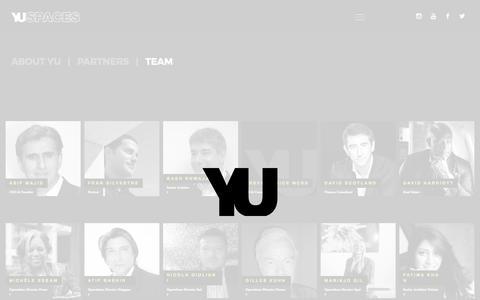 Screenshot of Team Page yuspaces.com - Team – YU - captured Feb. 19, 2020