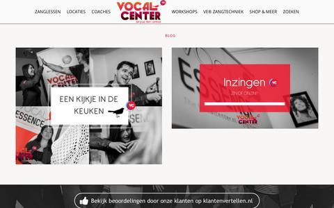 Screenshot of Blog vocalcenter.nl - Blog - Vocalcenter.nl - captured Nov. 29, 2017