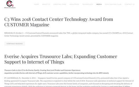 Screenshot of Press Page c3connect.com - Press Room - captured Dec. 13, 2018