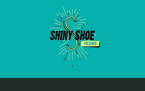 Screenshot of Home Page shinyshoe.com - Shiny Shoe - captured Dec. 21, 2015