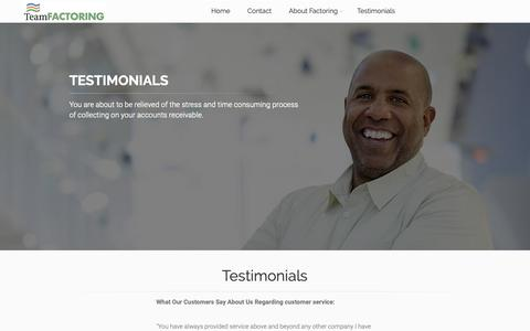 Screenshot of Testimonials Page ogdenphoto.com - Washington Factoring Companies| The Truth About Getting Rich| at ogdenphoto.com - captured Oct. 22, 2018