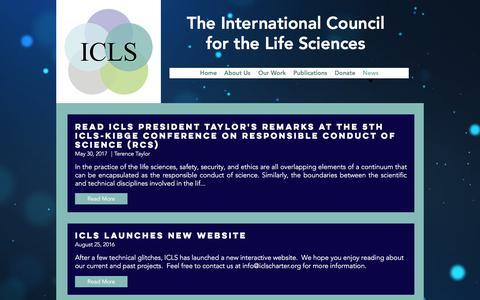 Screenshot of Blog Press Page iclscharter.org - icls   News - captured Oct. 15, 2017