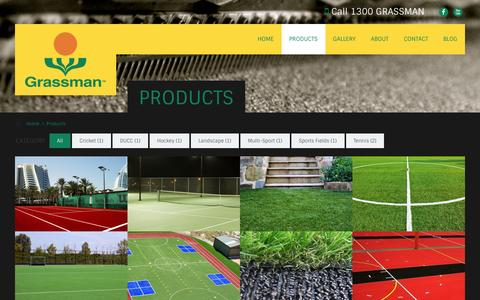 Screenshot of Products Page grassman.com.au - Grassman Products, Synthetic & Artificial Turf, Grass & Lawn - captured Oct. 3, 2014